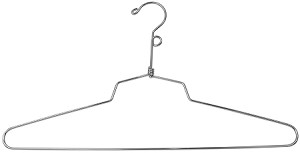 "Chrome 19"" Blouse Hangers with Loop Top"